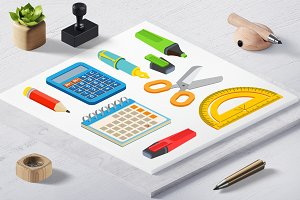 School Isometric Instruments