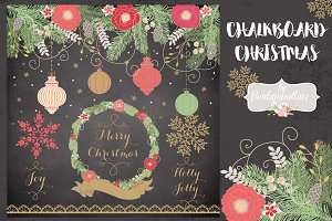 Chalkboard Christmas design
