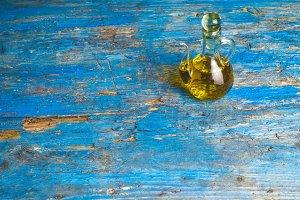 Extra virgin olive oil glass bottle