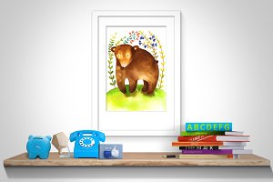 Bear Nursery Wall Art