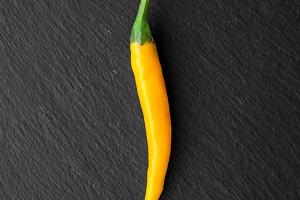 Hot Yellow Chili Pepper