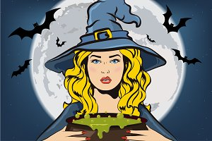 Witch collection. Halloween elements