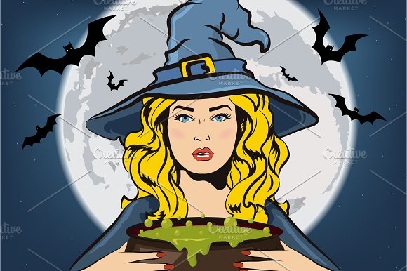 Witch collection. Halloween elements - Illustrations