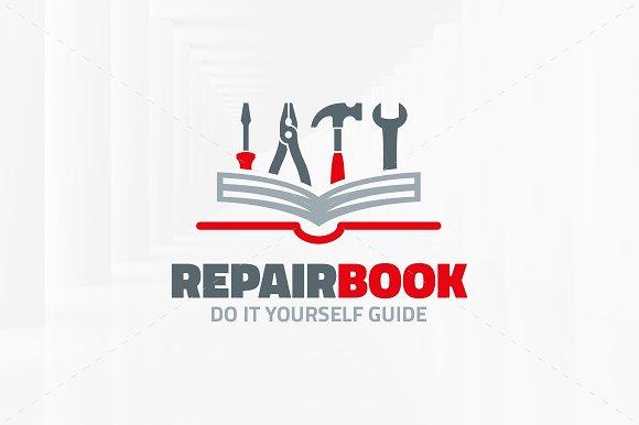 Repair book logo template logo templates creative market solutioingenieria Image collections