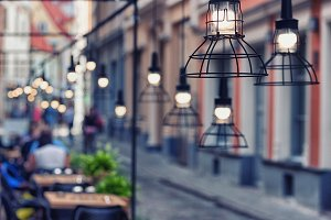 Lamps beautiful design. Vecriga, Rig