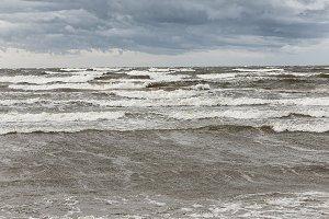 Autumn storm. Baltic sea.