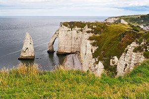 Etretat Cliffs in Normandy