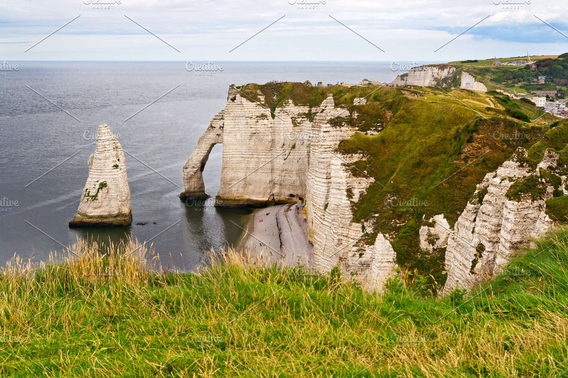 Etretat Cliffs In Normandy High Quality Nature Stock Photos