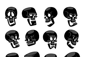 Skull bones cartoon character
