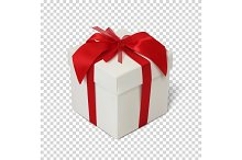 Gift box on transparent background.