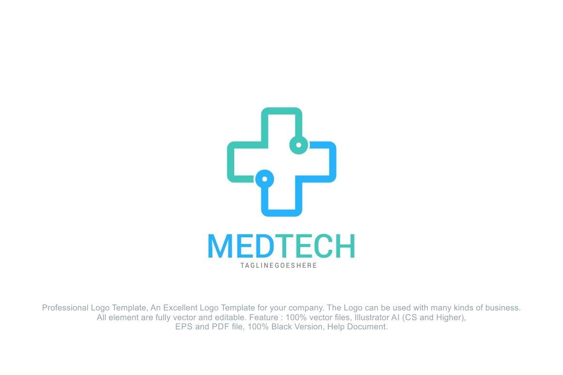 Medical Tech Logo Template Logo Templates Creative Market