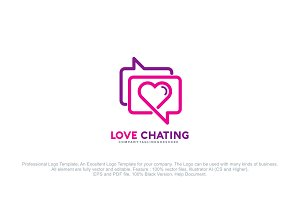 Love Chat Logo Template