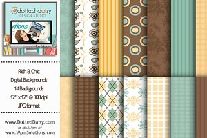 Rich & Chic Digital Backgrounds