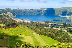 Volcano Landscape in Azores