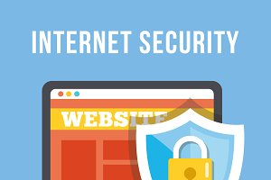 Internet Security Flat Illustration