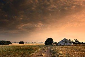 Sunset on Spanish fields