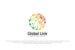 Global Link - Colorful Dot Globe