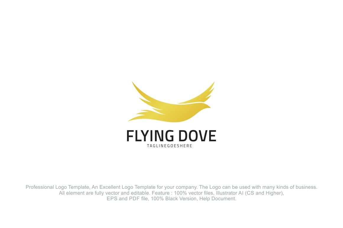 Luxury dove logo template logo templates creative market cheaphphosting Gallery