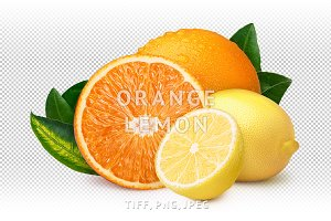 Orange with lemon