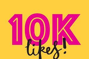 10K likes social media banner