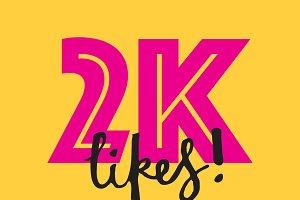 2K likes social media banner