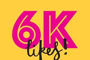 6K likes social media banner