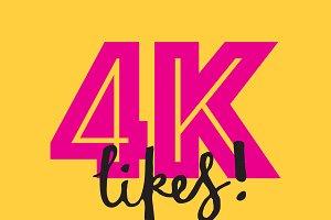 4K likes social media banner