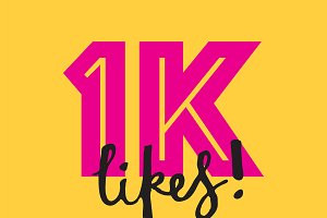 1K likes social media banner