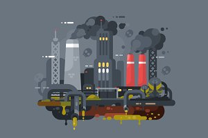 Factories polluting environment