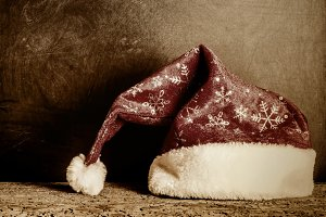 Christmas Santa hat vintage style
