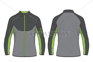 Men Performance Sport Jacket Vector