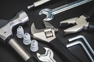 Tools on black background #4