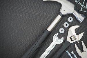 Tools on black background #5