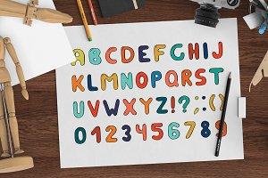 Doodle memphis letters. Hand drawn