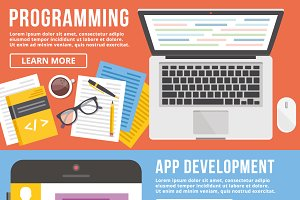 Programming, App Development Banners