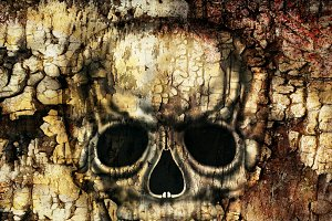 Gothic Human Skull