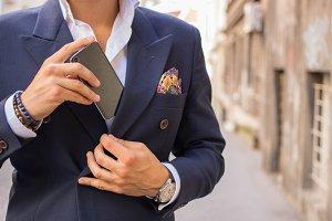 Gentleman with smartphone