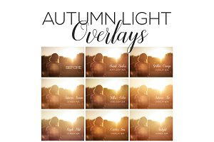 Autumn Light Overlays