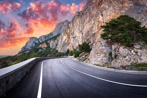 Beautiful mountain road