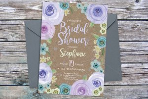 Lavender purple invite template 23
