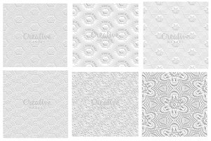 Seamless 3D Patterns Set