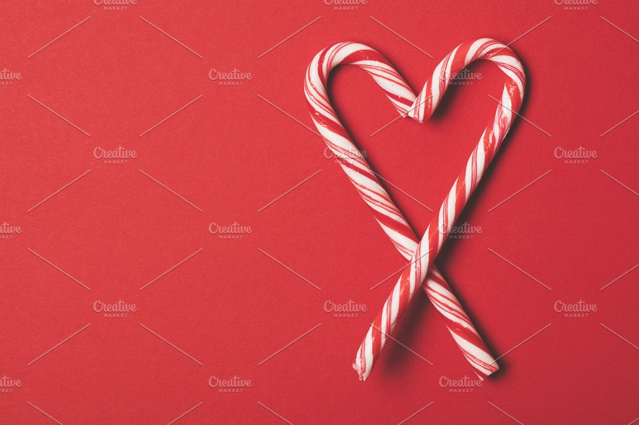 christmas candy cane red background - Christmas Candy Cane
