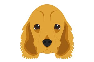Cocker Spaniel Vector Illustration
