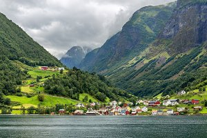 Undredal and Fjord, Norway