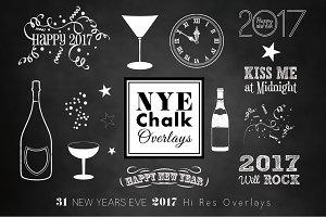 NEW YEARS 2017 CHALK Overlays