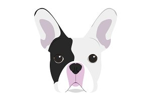 French Bulldog Vector Illustration
