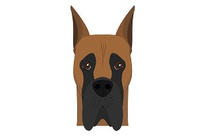 Great Dane dog Vector Illustration