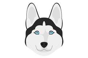 Siberian Husky Vector Illustration
