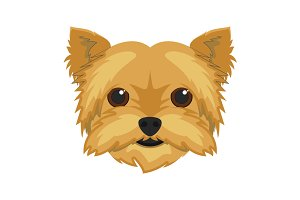 Yorkshire dog Vector Illustration