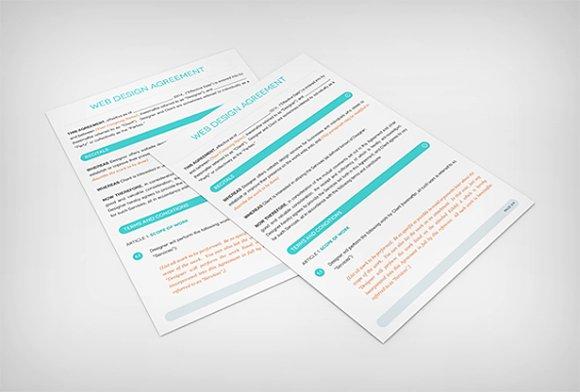 web design contract template brochure templates creative market. Black Bedroom Furniture Sets. Home Design Ideas